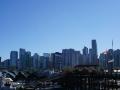Blick auf Skyline vom Stanley Park