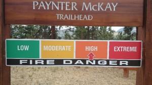 Waldbrand Gefahrenstufen