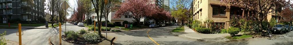 Vancouver Straßenpanorama